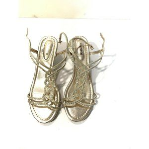 Unlisted Womens Sandals Size 8.5 Champagne Gold